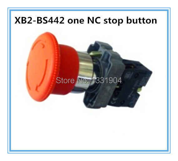 XB2-BS442 touch switch N/C rotary Turn release Mushroom electrical emergency stop button - Wenzhou Nicead Ele. Appliances Co., Ltd. store
