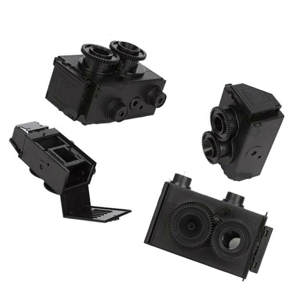 2015 Summer Style New Fashion Factory price drop shipping DIY Adult LOMO Camera Science Vo1.25 Twin Lens Reflex TLR Camera Holga(China (Mainland))