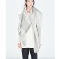 Za Winter 2016 Tartan Scarf Striped Pashmina New Designer Unisex Cashmere Shawls Women s big size