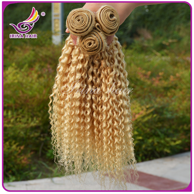 Brazilian Tight Curly Hair Extensions Tight Curly Hair Blonde