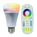 2 4G Wireless E27 8W RGBWW Color Temperature Dimmable 2 in 1 Smart MiLight LED Bulb