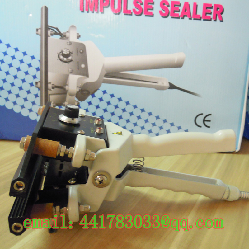 FKR-200 clip-on sealer large hand bag sealing machine simple portable impulse - TINKA MACHINERY HOUSE store
