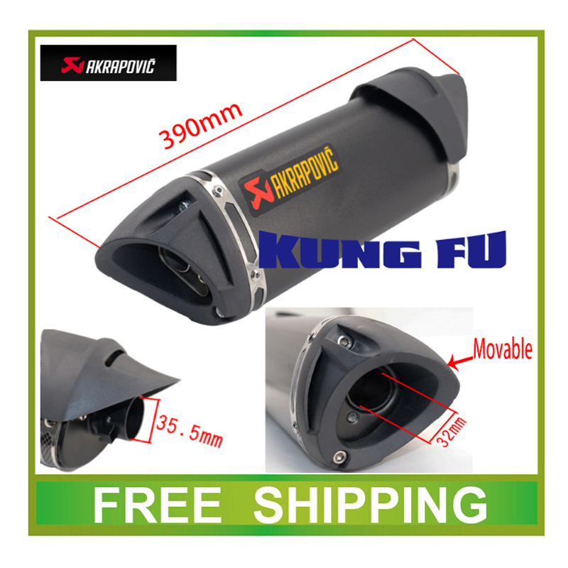 Motorcycle Exhaust Scooter Muffler Akrapovic Exhaust pipe TTR CBR CBR125 CBR250 CB400 CB600 YZF FZ400 Z750 RACING accessories(China (Mainland))