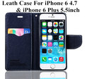 original Flip Leather Stand Wallets phone covers case For iPhone 6 4 7 Colorful Phone Back