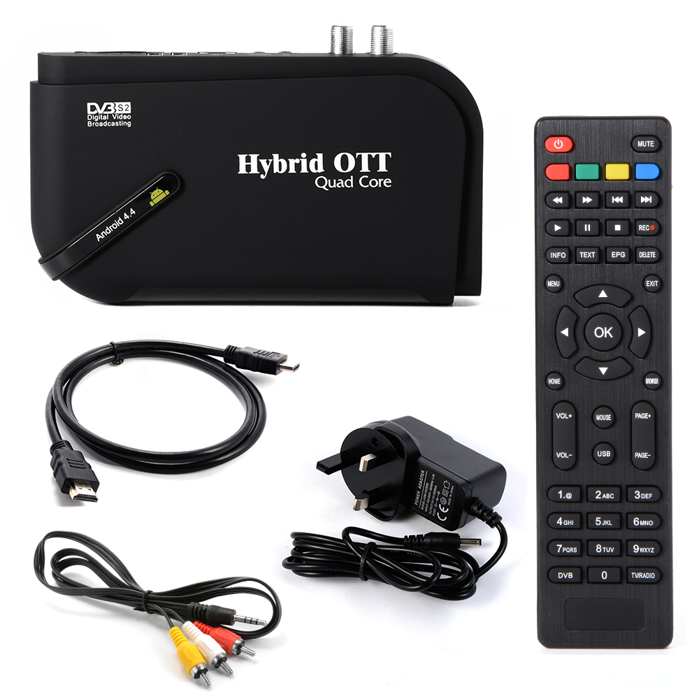 Amlogic S805 Quad Core Android 4.4 TV Box DVB-S2 HD Satellite TV Receiver AH185/AH186(China (Mainland))