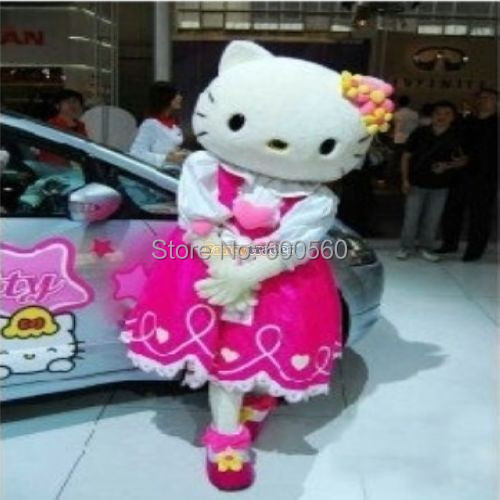 Fancytrader Hot Sale Pink Princess Hello Kitty Mascot Costume Hello Kitty Fancy Dress Free Shipping Accept Drop Shipping FT20047