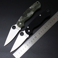 Hot GP c81 Spyderco Folding Tactical Knife 9CR Blade G10 Handle Knife Survival Camping Hunting Knife