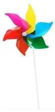 50 шт./лот пвх 6 10 * 20 см классические игрушки твердых тел multicolors ветер счетчик-квадрат юла сад ветряная мельница пластиковые игрушки для детей