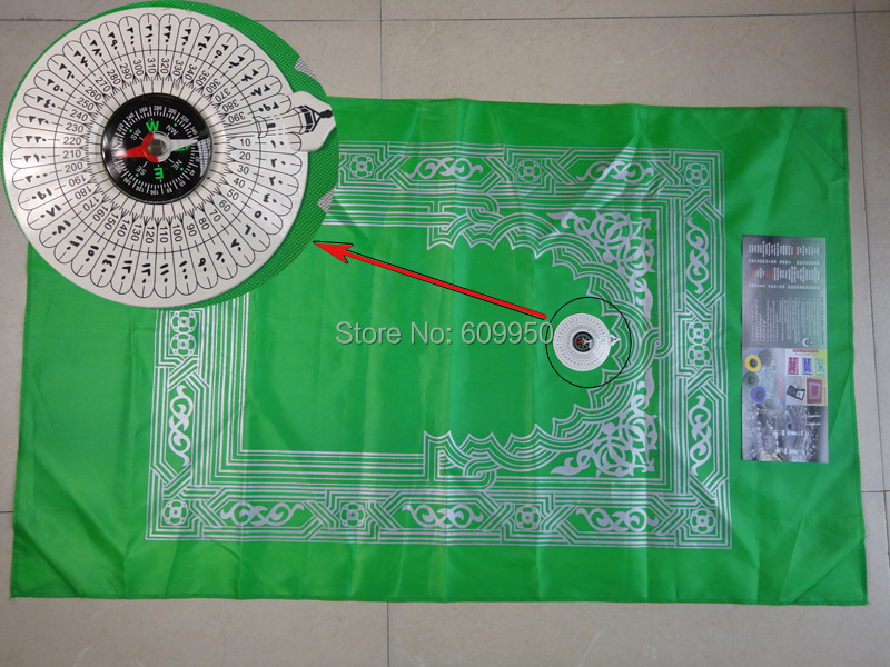 PM003 islamic prayer rugs compass easy take along assorted colors promotion - Beauty Arab Items For Sisters store