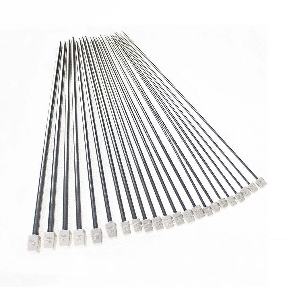 """*US Ship* New Brand 22Pcs/Set Stainless Steel Single Pointed Knitting Needles Crochet Tool 11 Sizes 14"""" 36cm Accessories(China (Mainland))"""
