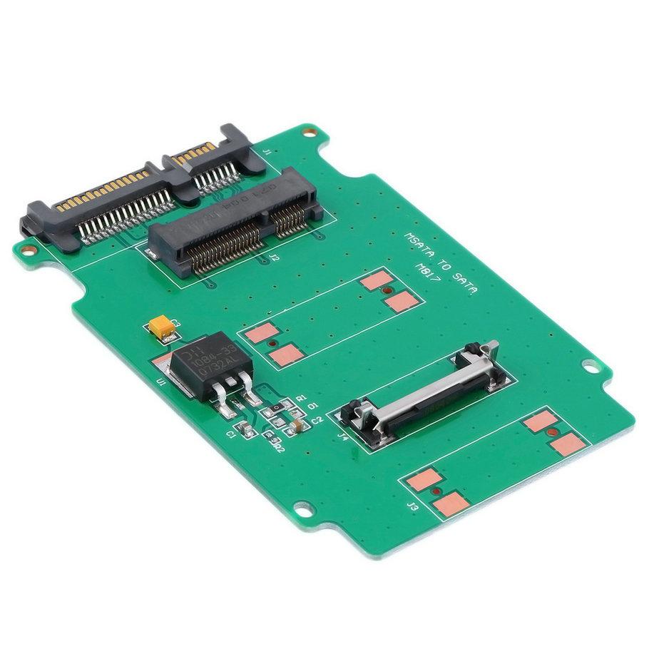 2016 Hot 2.5-inch Green High-capacity high-power Serial mSATA to SATA Adapter(China (Mainland))