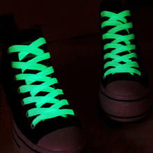 1M 1 Pairs=2 PCS Sport Men Women Luminous Shoelace Glow In The Dark Fluorescent Shoelace Athletic Flat Shoe Laces(China (Mainland))