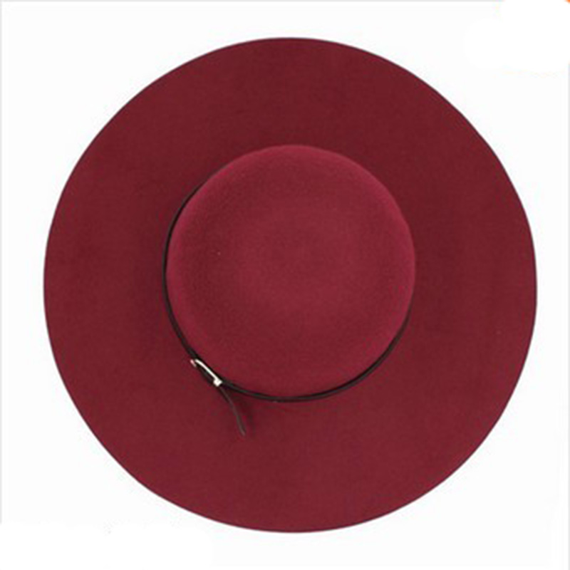Гаджет  Special Offer!New Hot Winter Women Cap Cashmere Wool Fedoras Dome Rolled Edge 100% Wool Small Hat Circular Cap Large Brimmed Hat None Одежда и аксессуары