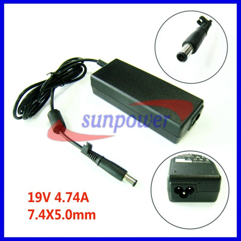 90w 19V 4.74A 7.4X5.0 center smart pin Laptop Adapter Power Charger replacement for HP/Compaq nc6400, nc2400, nc4400, nc6320(China (Mainland))