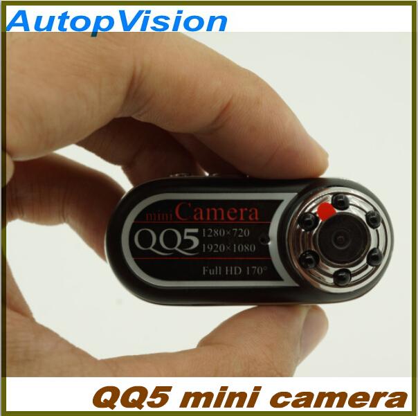 2PCS Portable mini camera QQ5 Full HD 1080P Mini Camera 170 degrees wide angle IR Night Vision and motion detection Function(China (Mainland))