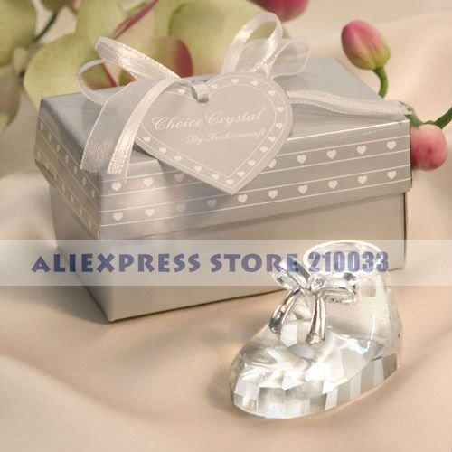 Unique Wedding Party Gifts : Unique Crystal Baby Shoe Paperweight Party Favors Gifts for Wedding ...