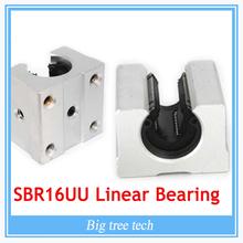 4PCS SBR16UU SBR16 Linear Bearing 16mm Open Linear Bearing Slide block 16mm CNC parts linear slide