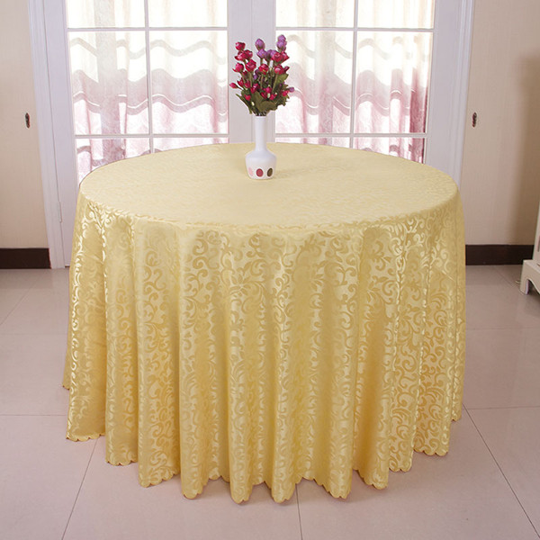 Wholesale Round Table Cloth For Wedding/Banquet Solid Jacquard Hotel Table Linen Kitchen Dining Tablecloth Outdoor Table Cover(China (Mainland))