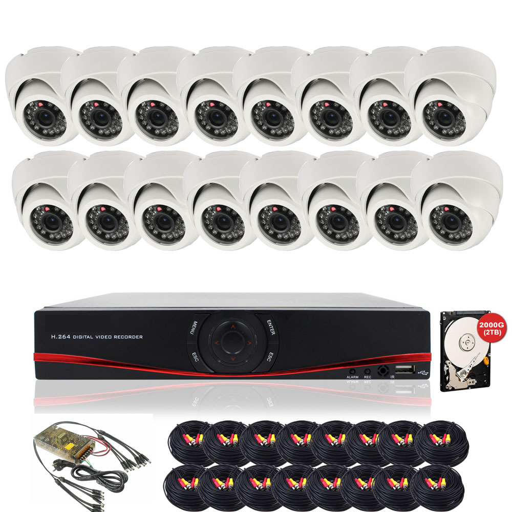 16ch AHD CCTV Cameras Video Surveillance System 720P HD Security Cameras Kit with 2TB HDD<br><br>Aliexpress