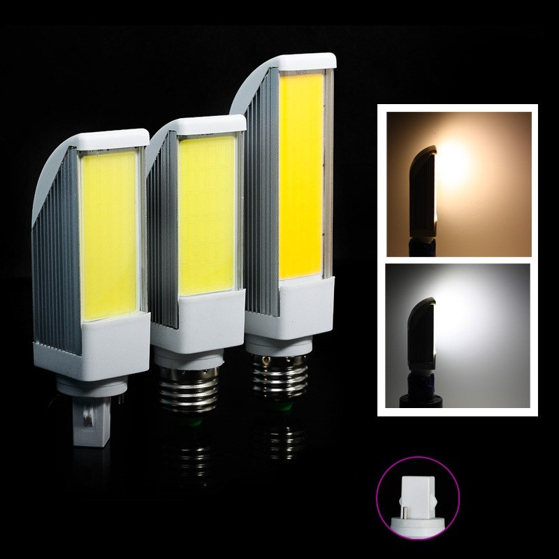 G24 7W/9W/12W COB LED Light Horizontal Plug Lamp dimmable Cool White/Warm White 85-265V High Brightness - XinJia store