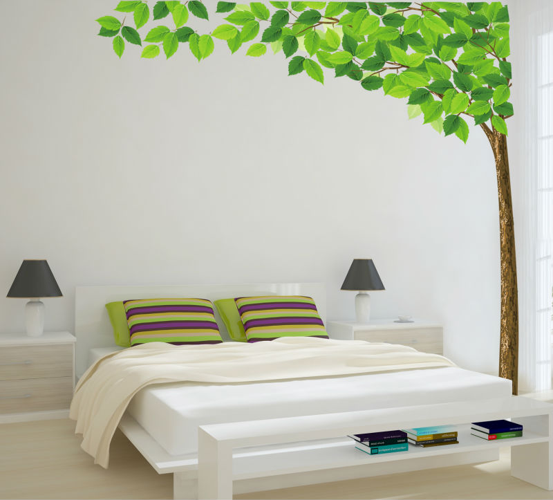 Wall Art Stickers Green : Free shipping home decorative mural decal art vinyl wall