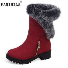 Fashion 2016 Woman Warm Snow Boots Women Flats Round Toe Boot Botas Femininas Winter Girls Shoes Footwear Size 30-52 - Shop1267192 Store store