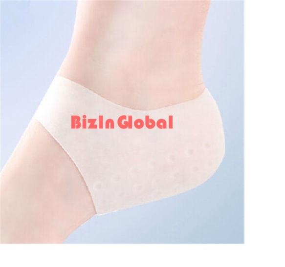 1 pair Gel Heel Sleeve Pad Moisturizing Silicone Socks Heel Ankle Pain Relief Cushion Cracked Foot Skin Care Protecto EB1253(China (Mainland))
