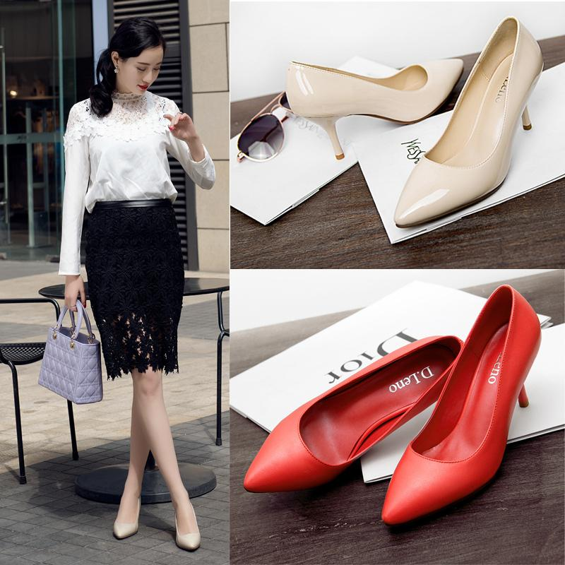 2015 spring Shoes toe head High-heeled shoes High heels single Hhoes nightclub fine with shallow mouth Women Hhoes nude color<br><br>Aliexpress