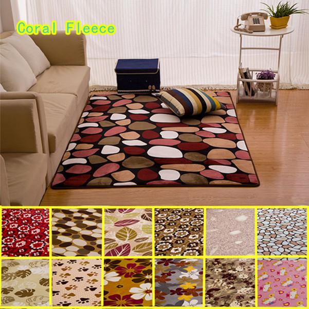 Coral fleece carpet alfombras dormitorio baby foam floor - Alfombras para sala ...
