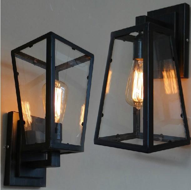 Vintage Filament Sconce Wall Lamp E27 Edison bulb(China (Mainland))