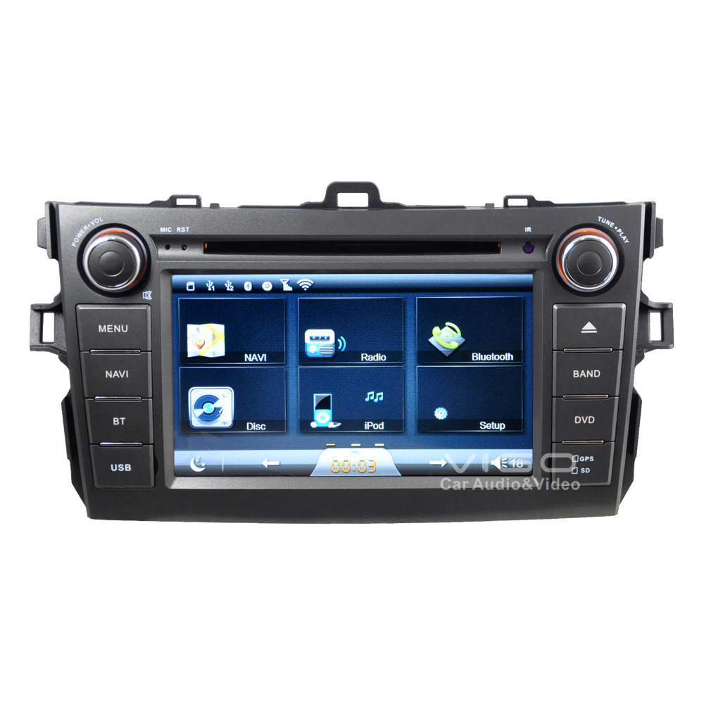 car stereo gps navigation for toyota corolla 2007 2011 auto multimedia headunit sat nav. Black Bedroom Furniture Sets. Home Design Ideas