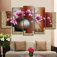 hand-painted oil wall art Purple flowers water side home decoration abstract Landscape oil painting on canvas FL5-093