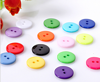2015 new arrival 100 pcs Scrapbooking mixed Round Shape Resin 2Holes Sewing Buttons DIY decoration AE03099