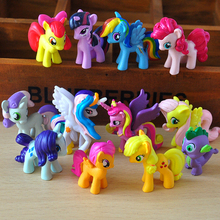 12 pcs/set 3-5cm my cute pvc lovely little horse mlp action toy figures dolls for girl birthday christmas gift
