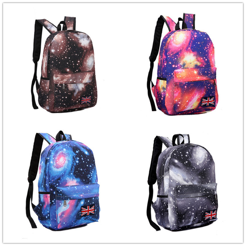 Starry Sky Canvas Travelling Backpack Student Book Bag 4-color Choosing BG044(China (Mainland))