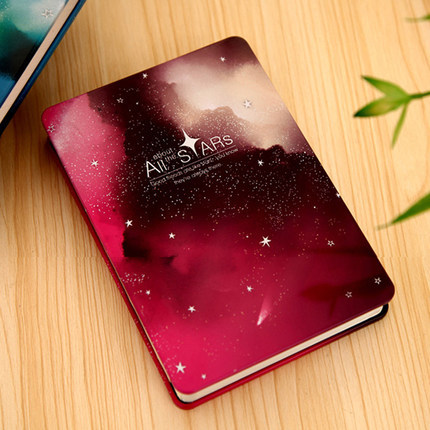 High quality Fashion style metal cover /colour painting notebook/colour pages/all stars(China (Mainland))