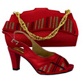 New Arrival High Quality Matching Italian Shoe And Bag Set African Lady High Heels To Match