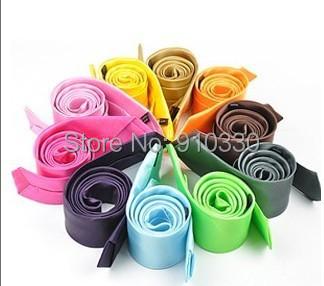 100 Fashion 35 Colors Mens Slim Skinny Solid Color Plain Satin Tie Necktie - Clothing supermarket store
