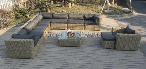 Quality assured outdoor furniture rattan sofa set living room furniture(China (Mainland))