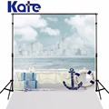 Kate Photography backgrounds Sail Sailboat anchored boxes photo backdrops stage mini backgrounds for children photo studio