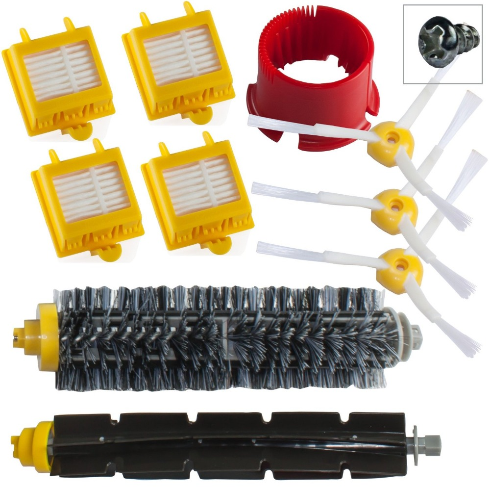 10pcs/LOT Brush Kit accessoires compatible for iRobot robot Roomba Serie 700 760 765 770 775 780 790 aspirateur With free Scew(China (Mainland))