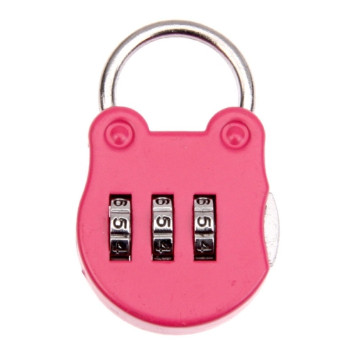 Mini Luggage Security Lock Portable 3 Digits Combination Lock Backpack Padlock Pink Home Care Tools Lock