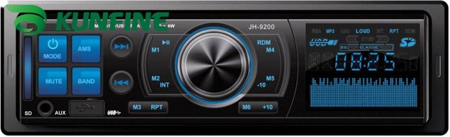 One DIN Car MP3 Player Car Radio player with USB/SD/MMC/Slot with remote controller KF-V5007+ 1 year warranty