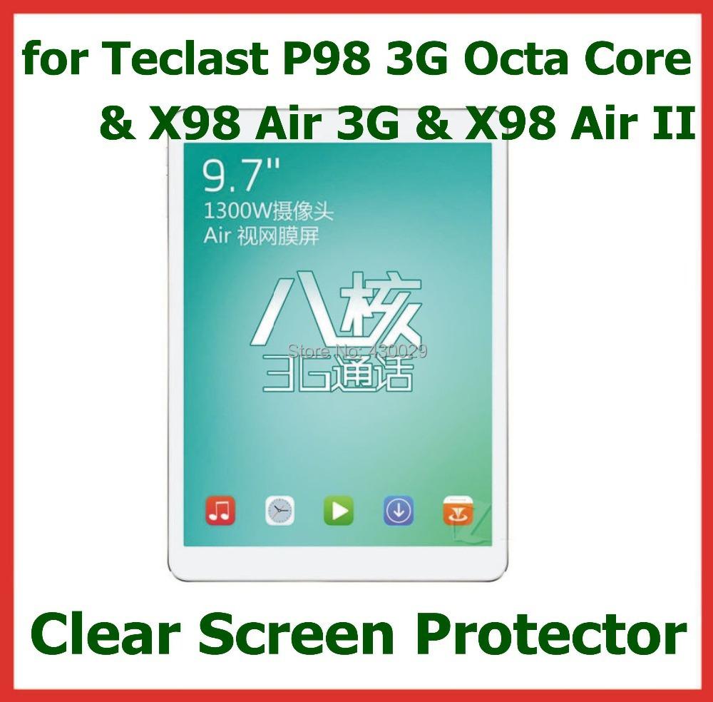 3 шт. Clear Screen Protector Защитная Пленка для Teclast X98 Pro P98 3 Г Octa Ядро X98 Air 3 Г X98 Air II Tablet НЕТ Розничный Пакет