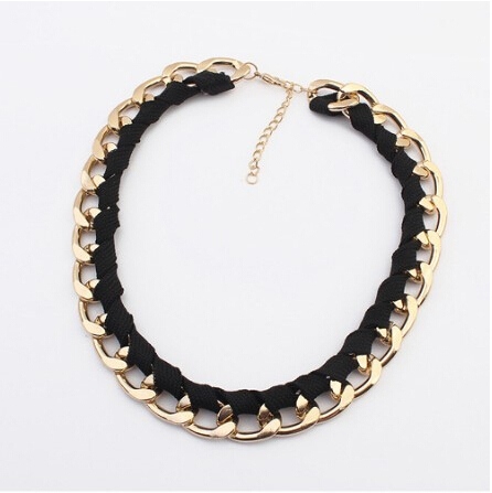 gold vintage cheap chain statement necklace women 4 Color new collar fashion jewelry accessories necklaces pendants