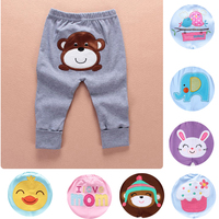 Baby pants with embroidered animal boy girl animals trousers Infant Toddlers Clothing baby creppers Para Bebe products