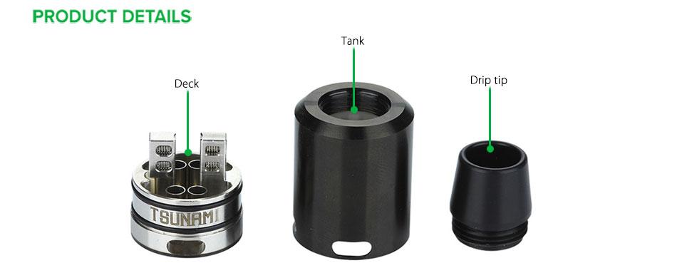 ถูก 100%เดิมGeekVapeสึนามิ24 RDAเครื่องฉีดน้ำบุหรี่อิเล็กทรอนิกส์Rebuildableเครื่องฉีดน้ำถังกลวงบวกขาสำหรับSquonkสมัย
