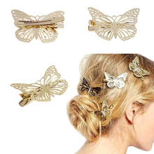 Hot Sale 2016 Metal Butterfly Hair Clips  Headwear Hair Accessories for women  Free Shipping (China (Mainland))