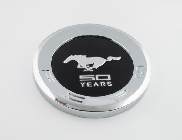 Auto Car chrome Black Running Horse 50 YEARS for Mustang Trunk DECK LID Panel Emblem Badge Sticker(China (Mainland))
