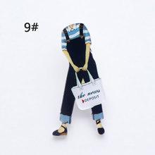 Harajuku Gaya Dua Dimensi Kartun Manusia Aksesoris Bros untuk Mantel Kemeja Tas Mantel Kerah Pin Lencana Perhiasan Hadiah(China)